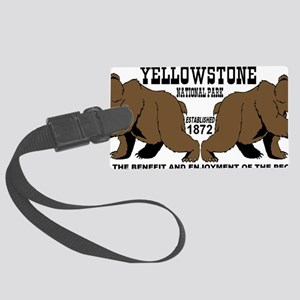 two_bears_YNP Large Luggage Tag