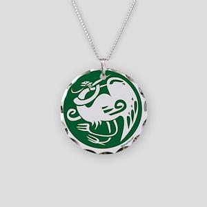 Heron Necklace Circle Charm