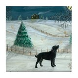 Winter with dogs Coasters