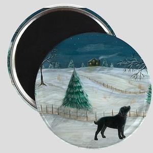 Winter Labrador Magnet