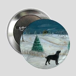 Winter Labrador Button