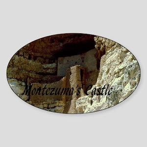 Montezumas Castle-20x16 Sticker (Oval)