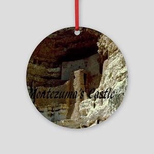 Montezumas Castle-20x16 Round Ornament