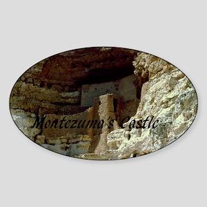 Montezumas Castle-35x23 Sticker (Oval)