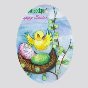 easter_yellowbird_bi Oval Ornament