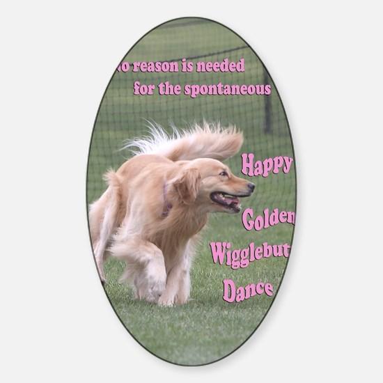 DanceCardMerge Sticker (Oval)