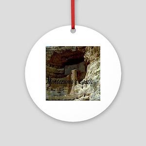 Montezumas Castle-12x9 Round Ornament
