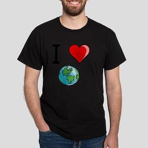 I Heart Earth Black Dark T-Shirt