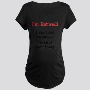Retired Black Maternity Dark T-Shirt