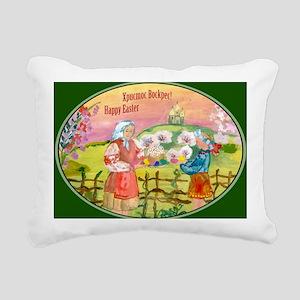 easter_cake_smaller Rectangular Canvas Pillow