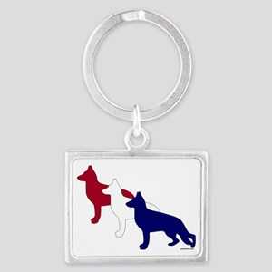 Patriotic_GSD Landscape Keychain