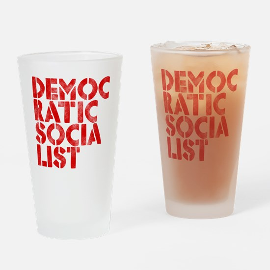 DEM-SOC-RED Drinking Glass