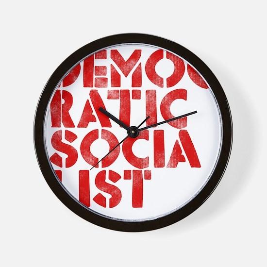 DEM-SOC-RED Wall Clock