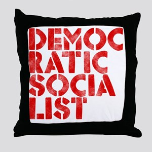 DEM-SOC-RED Throw Pillow