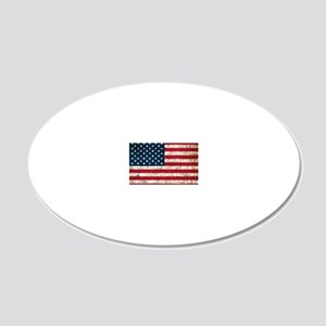 USA Grunge 20x12 Oval Wall Decal