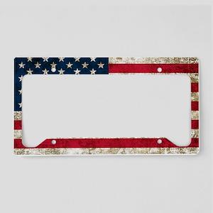 USA Grunge License Plate Holder