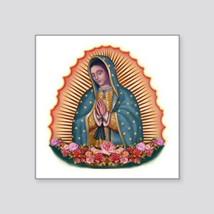 """Lady of Guadalupe T2 Square Sticker 3"""" x 3"""""""