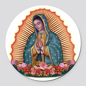 Lady of Guadalupe T2 Round Car Magnet