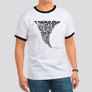 Cafepress Tornado Shirt 2011 Black letter Ringer T