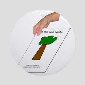 Save the Trees Round Ornament
