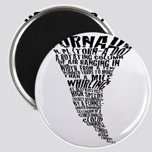 Cafepress Tornado Shirt 2011 Black letter Magnet