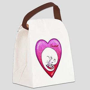Sweet rat necklace Canvas Lunch Bag