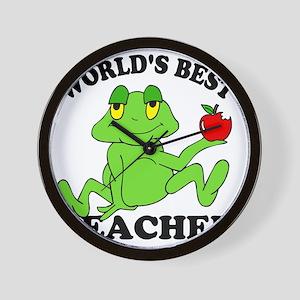 Frog Apple Wall Clock
