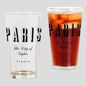 Paris_10x10_apparel_France_TheCityO Drinking Glass