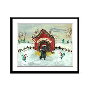 Christmas Labrador Framed Panel Print