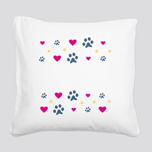 All My Kids Have Paws Square Canvas Pillow