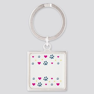 All My Kids Have Paws Square Keychain