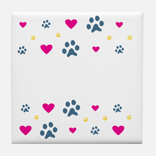 All My Grandkids Have Paws Tile Coaster