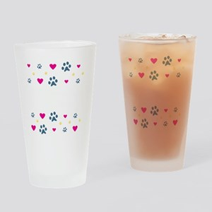 All My Grandkids Have Paws Drinking Glass