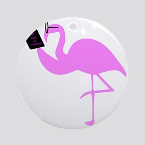 flamingo Round Ornament