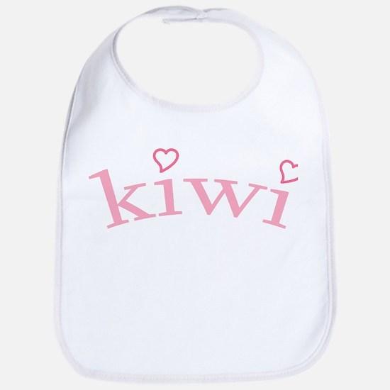 """""""Kiwi with Hearts"""" Bib"""