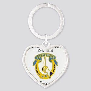 4th Squadron 7th Cavalry Heart Keychain