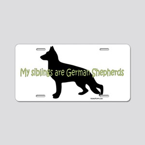 GSD_siblings Aluminum License Plate