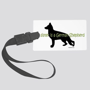 GSD_sister Large Luggage Tag