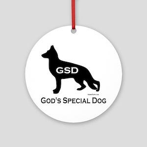 GSD_GodsSpecialDog Round Ornament