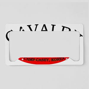 4th Squadron 7th Cavalry cap2 License Plate Holder