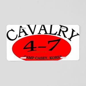 4th Squadron 7th Cavalry ca Aluminum License Plate