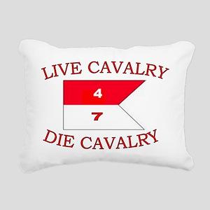 4th Squadron 7th Cavalry Rectangular Canvas Pillow