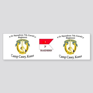4th Squadron 7th Cavalry mug Sticker (Bumper)