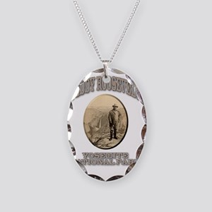 teddy Necklace Oval Charm