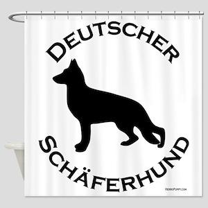 DeutscherSchaferhund_round Shower Curtain