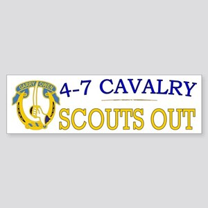 4th Squadron 7th Cavalry bs4 Sticker (Bumper)