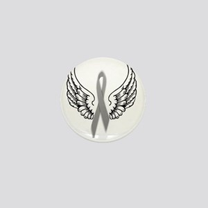 Angel Wings Cure Parkinsons Mini Button