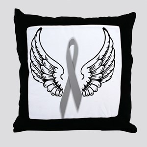 Angel Wings Cure Parkinsons Throw Pillow