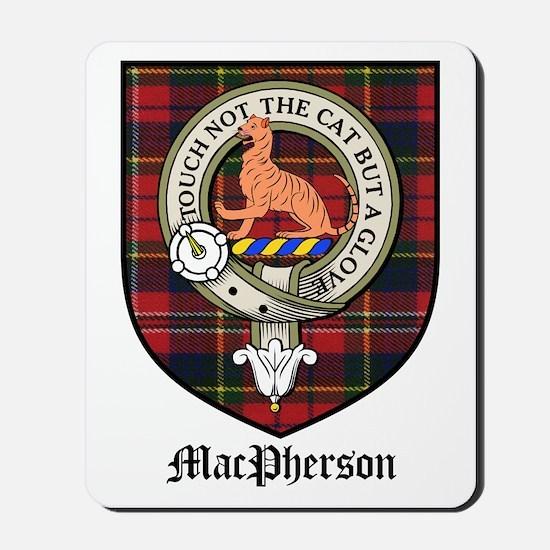 MacPherson Clan Crest Tartan Mousepad