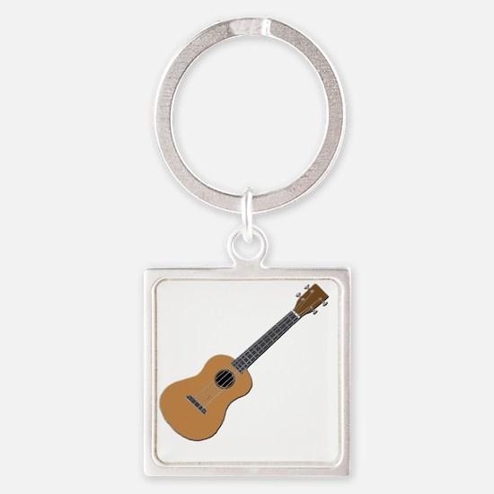 ukulele Square Keychain